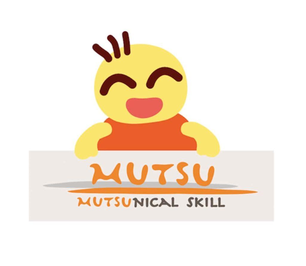 MUTSUニカルスキルのロゴを持つMUTSU