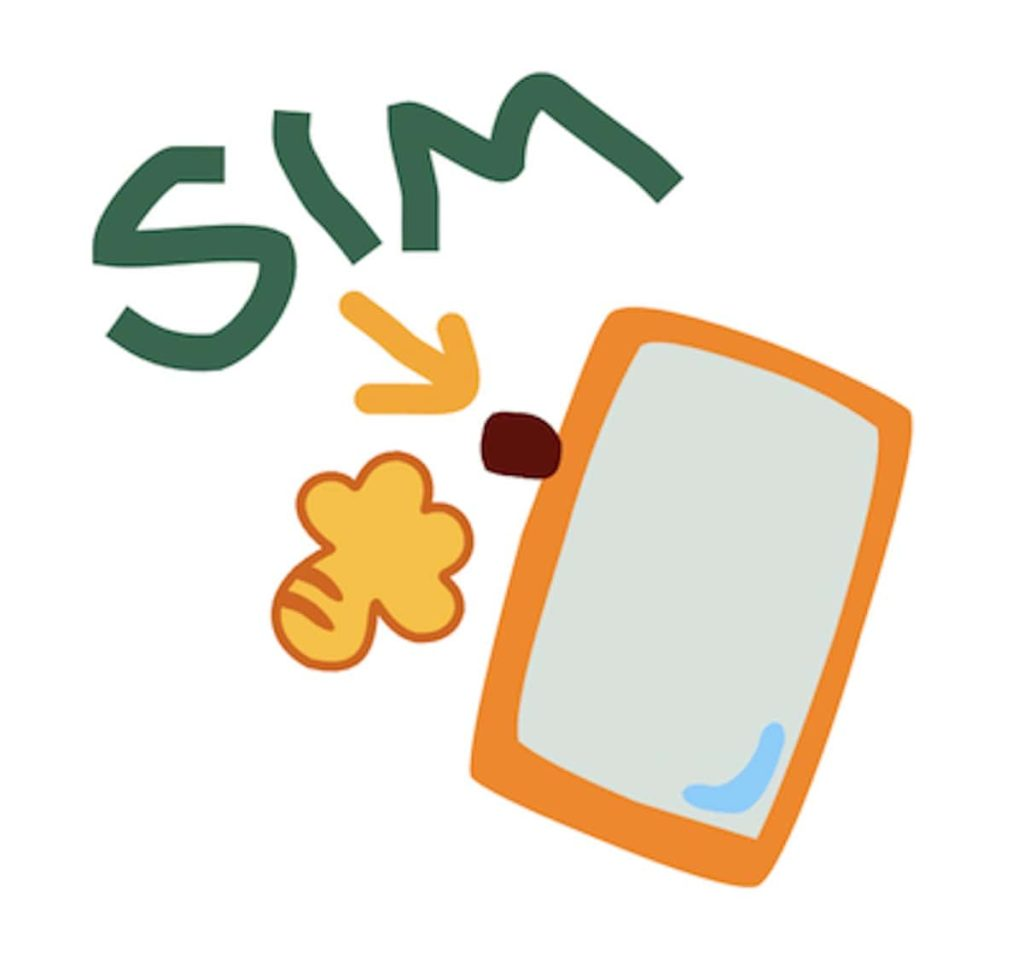 SIMカードをスマホに挿入