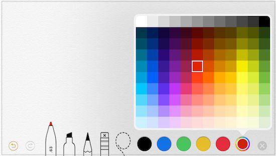 iPadAir2(ios12)で増えた色選択
