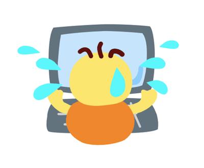 パソコンのトラブルにオロオロする