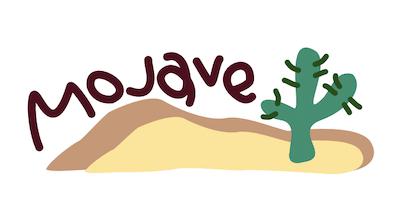 Mojave砂漠のイメージイラスト
