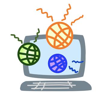 パソコンでインターネットのイメージ