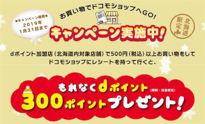 北海道限定dポイントゲットキャンペーン