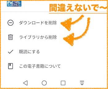 『Google Play ブックス』書籍削除画面