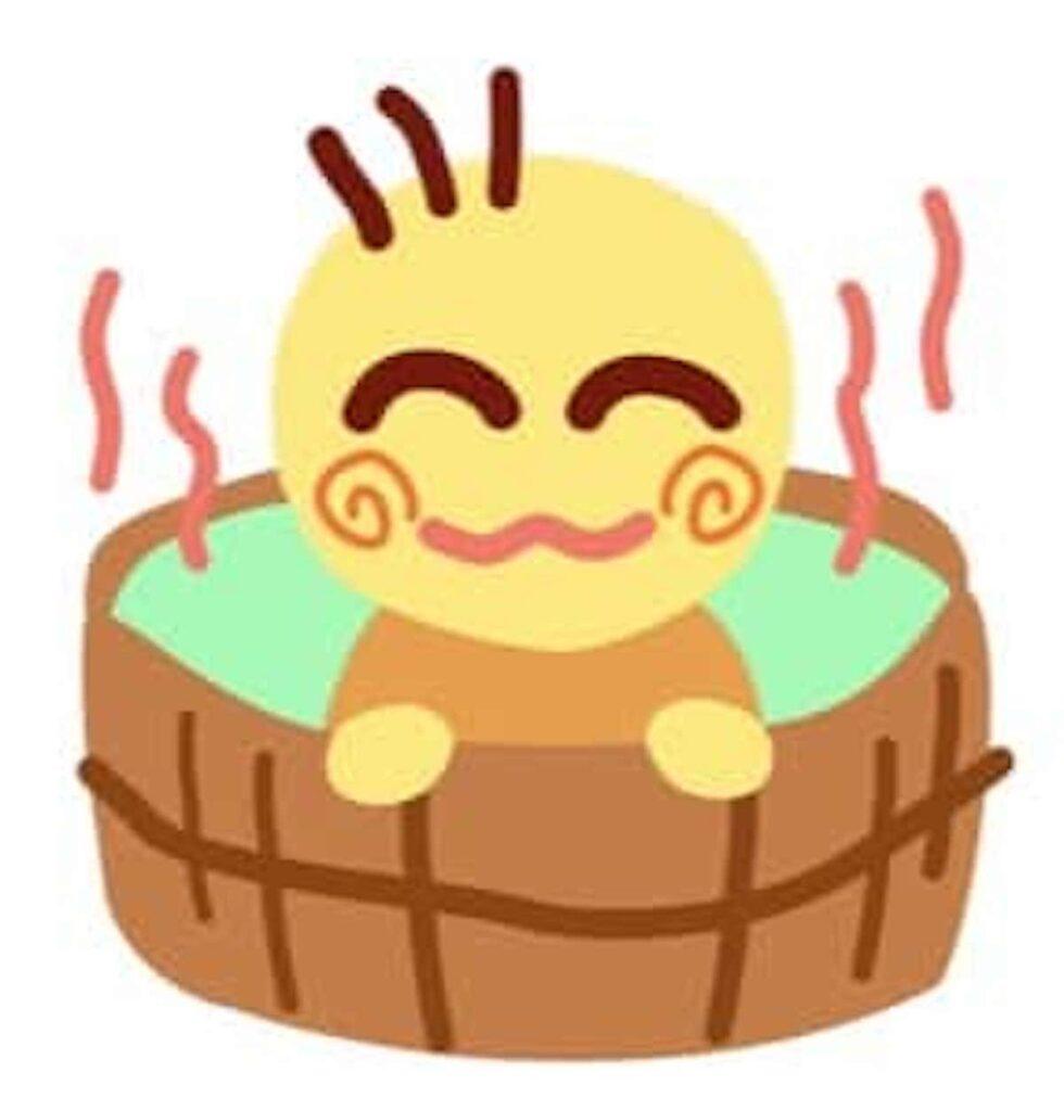ゆっくりお風呂に入る人
