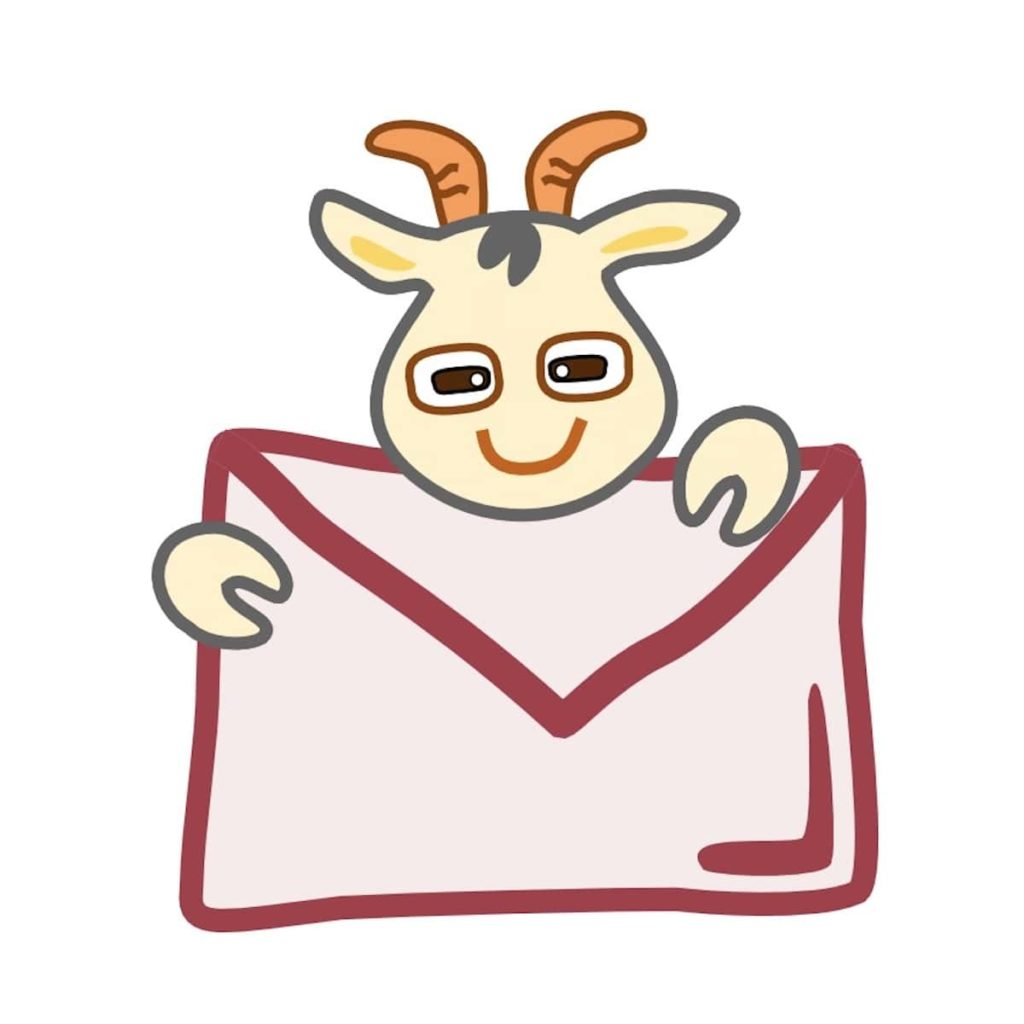 ヤギが手紙を運ぶ