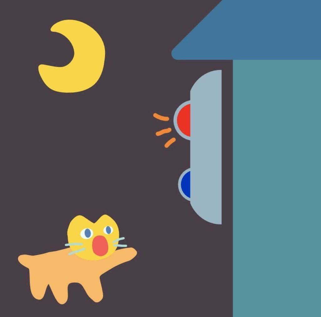 夜間でも作動する防犯カメラ