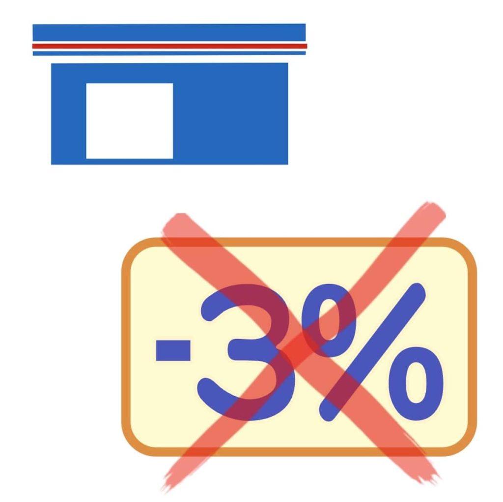 ローソンで3%割引終了