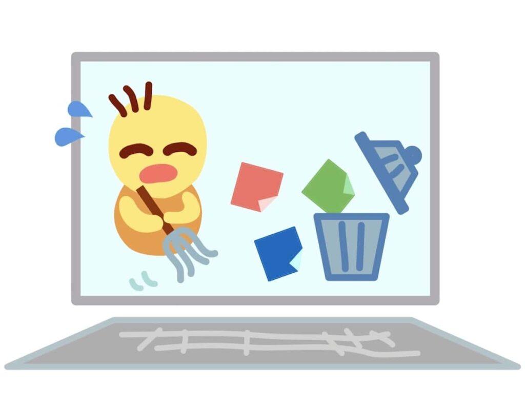 パソコン内のアプリやファイルをゴミ箱に入れる