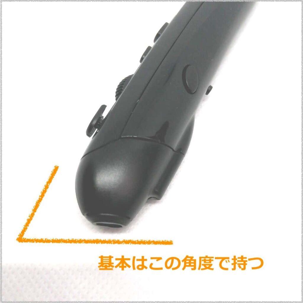 「ペン型マウス 400-MABT160」の角度